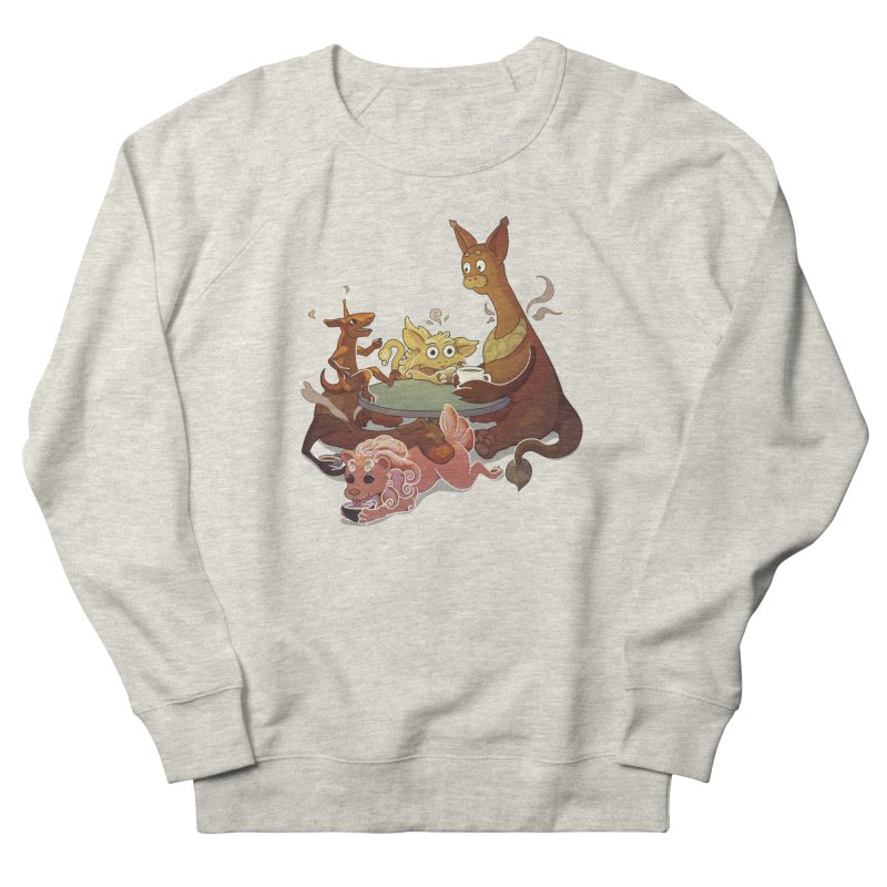 Coffee Party Men's French Terry Sweatshirt by Creaturista's Fine Goods