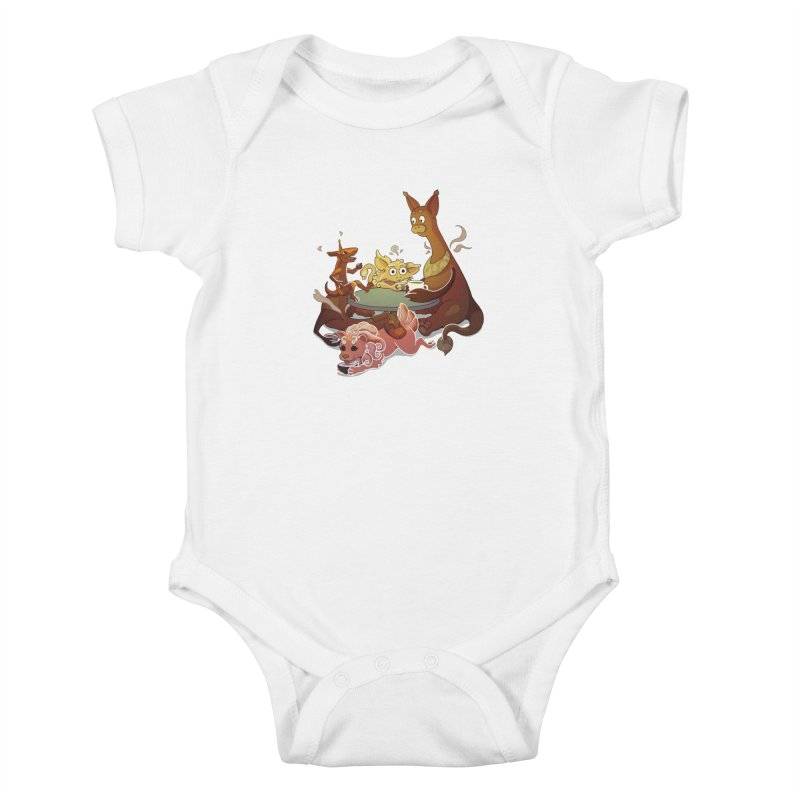 Coffee Party Kids Baby Bodysuit by Creaturista's Fine Goods