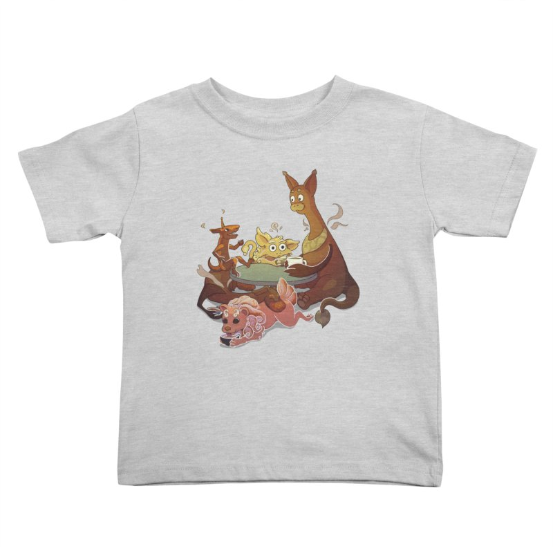 Coffee Party Kids Toddler T-Shirt by Creaturista's Fine Goods
