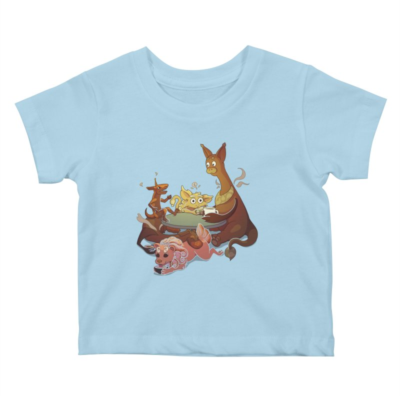 Coffee Party Kids Baby T-Shirt by Creaturista's Fine Goods