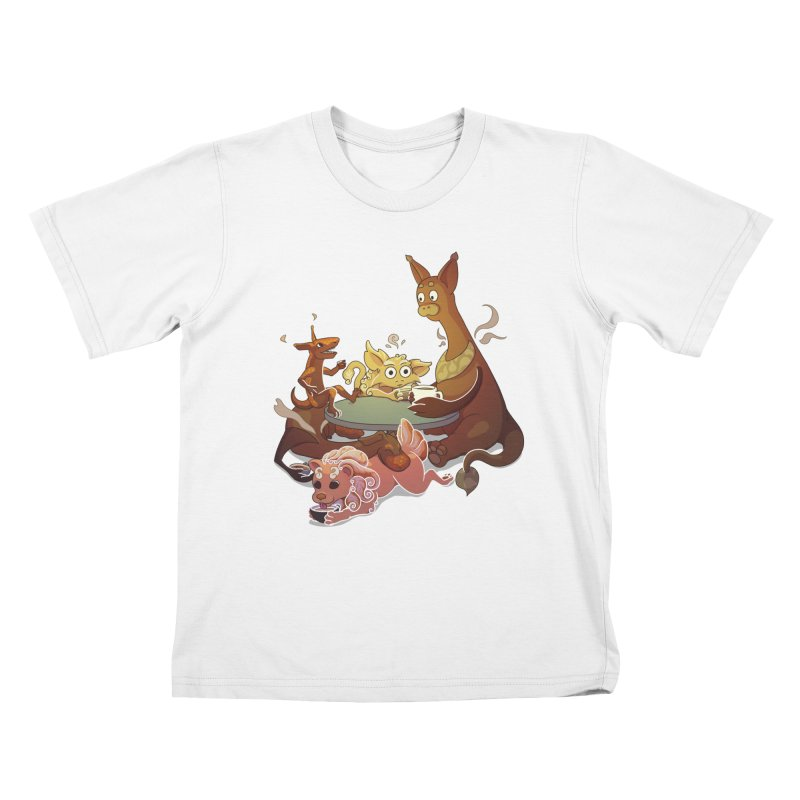 Coffee Party Kids T-Shirt by Creaturista's Fine Goods