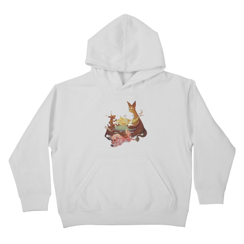 Coffee Party Kids Pullover Hoody by Creaturista's Fine Goods
