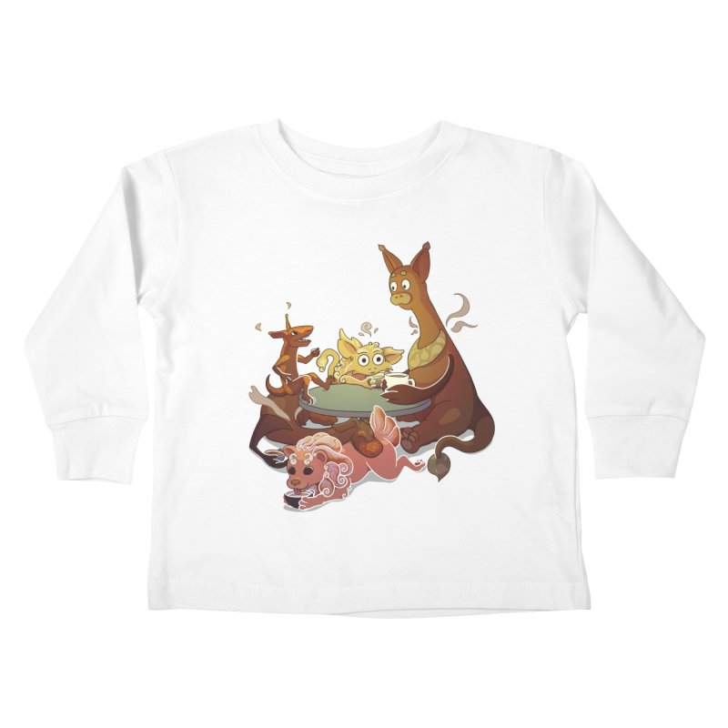 Coffee Party Kids Toddler Longsleeve T-Shirt by Creaturista's Fine Goods