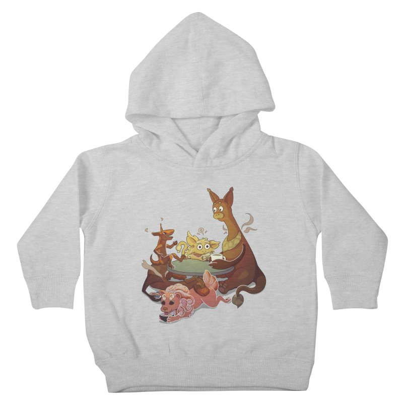 Coffee Party Kids Toddler Pullover Hoody by Creaturista's Fine Goods