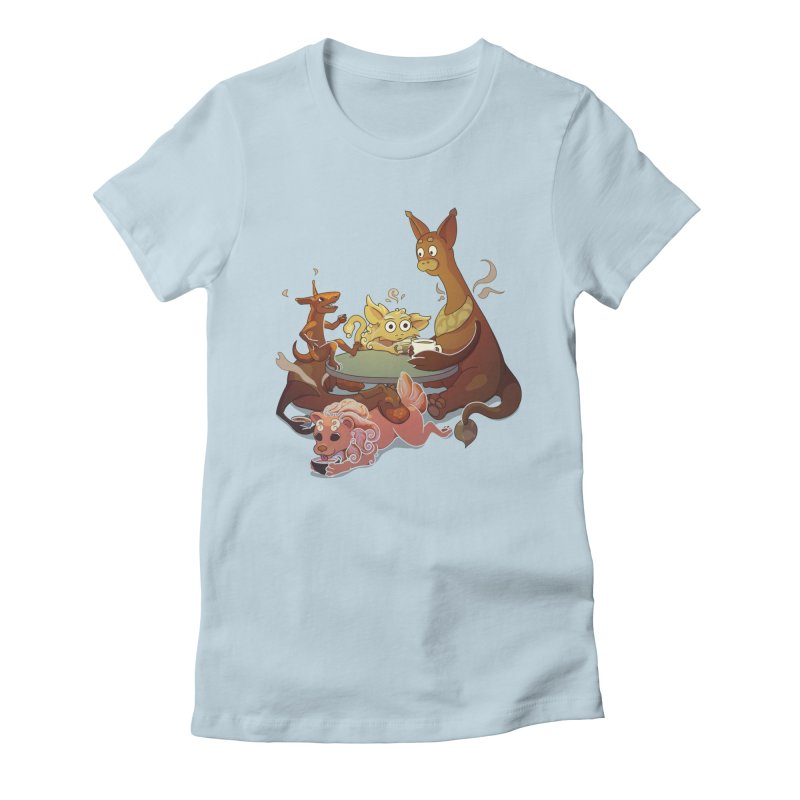 Coffee Party Women's Fitted T-Shirt by Creaturista's Fine Goods
