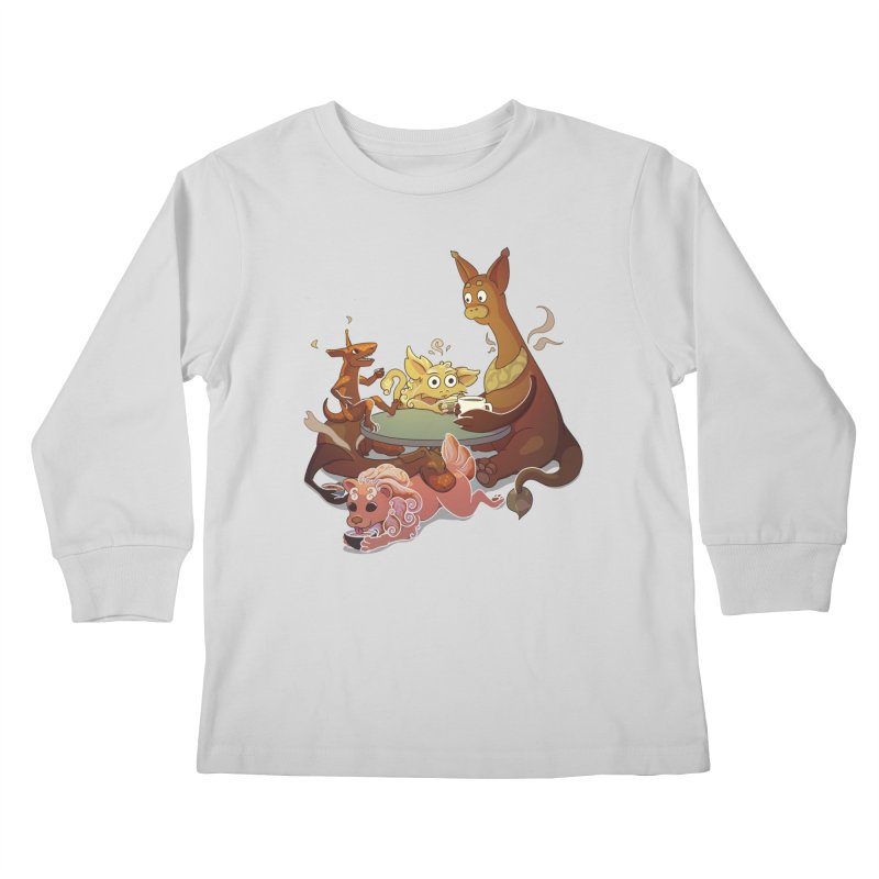 Coffee Party Kids Longsleeve T-Shirt by Creaturista's Fine Goods