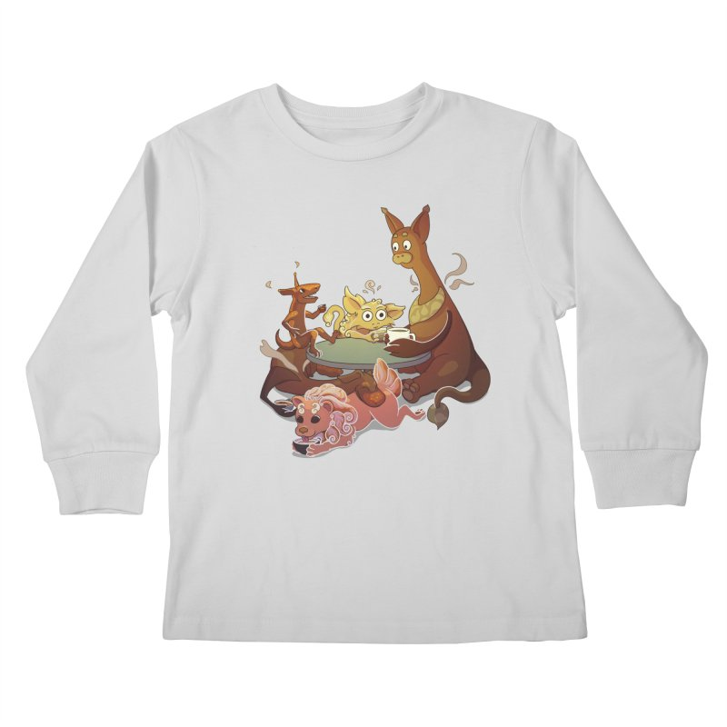 Coffee Party Kids Longsleeve T-Shirt by Creaturista's Fine Goods