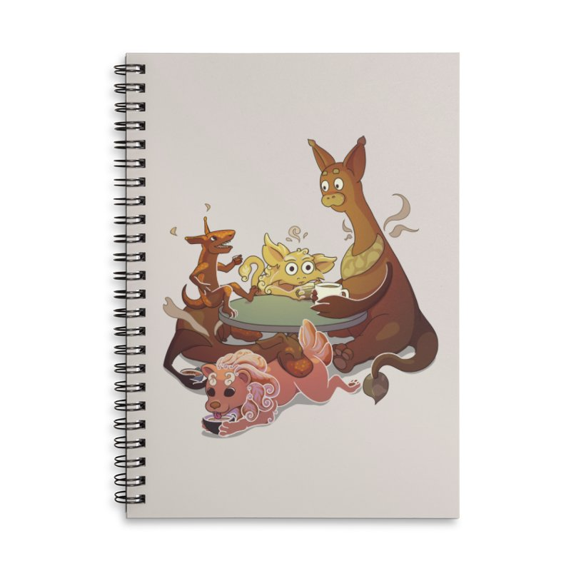 Coffee Party Accessories Notebook by Creaturista's Fine Goods