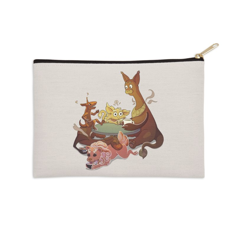 Coffee Party Accessories Zip Pouch by Creaturista's Fine Goods