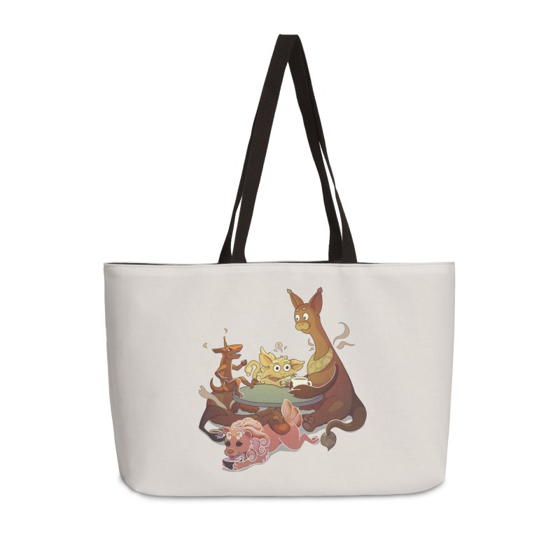 Coffee Party Accessories Weekender Bag Bag by Creaturista's Fine Goods