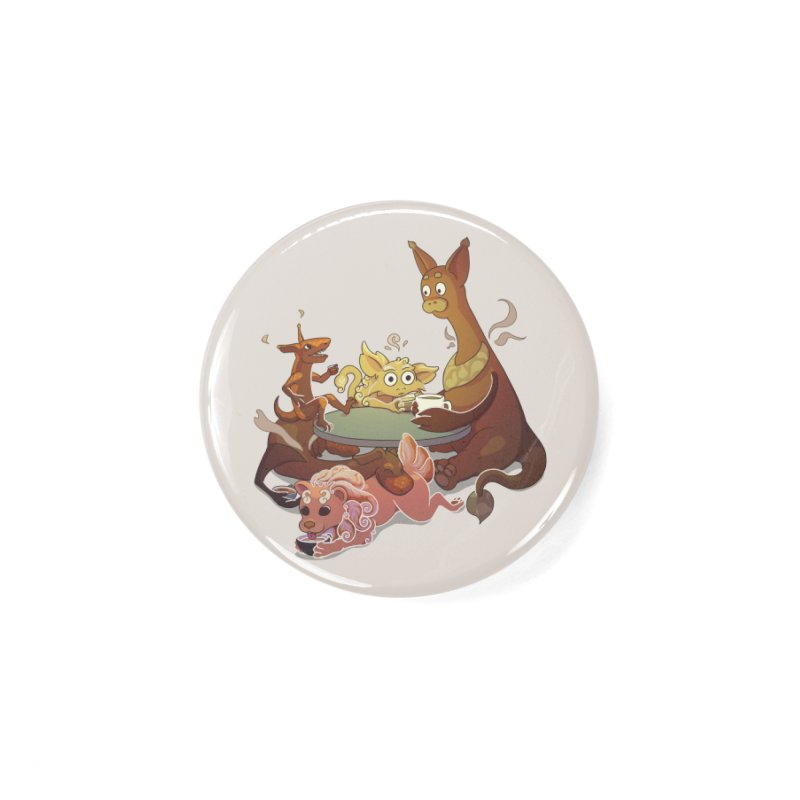 Coffee Party Accessories Button by Creaturista's Fine Goods