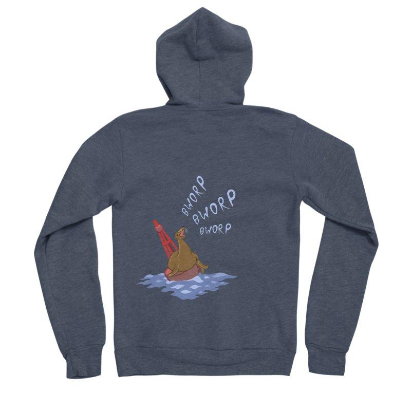 Forever Bworpin Men's Sponge Fleece Zip-Up Hoody by Creaturista's Fine Goods