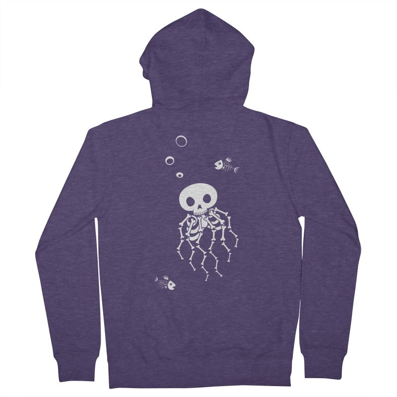 Bone Jelly Men's French Terry Zip-Up Hoody by Creaturista's Fine Goods
