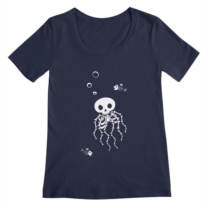 Bone Jelly Women's Regular Scoop Neck by Creaturista's Fine Goods