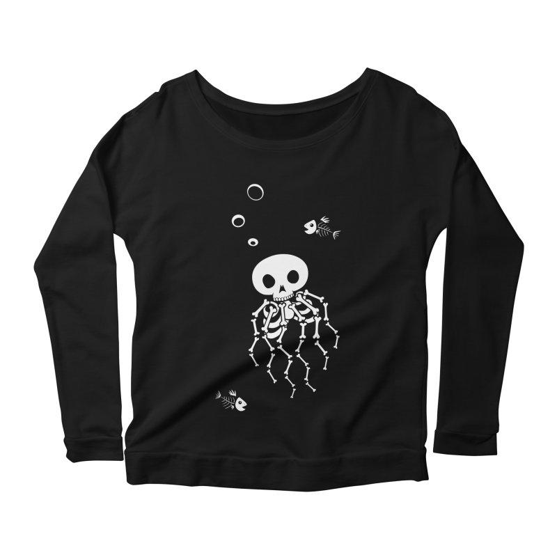 Bone Jelly Women's Scoop Neck Longsleeve T-Shirt by Creaturista's Fine Goods