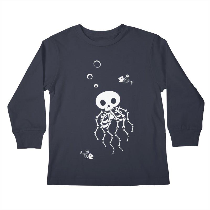 Bone Jelly Kids Longsleeve T-Shirt by Creaturista's Fine Goods