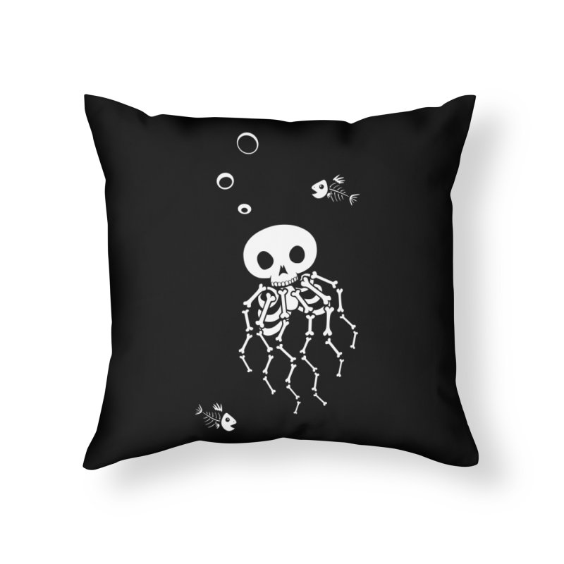 Bone Jelly Home Throw Pillow by Creaturista's Fine Goods