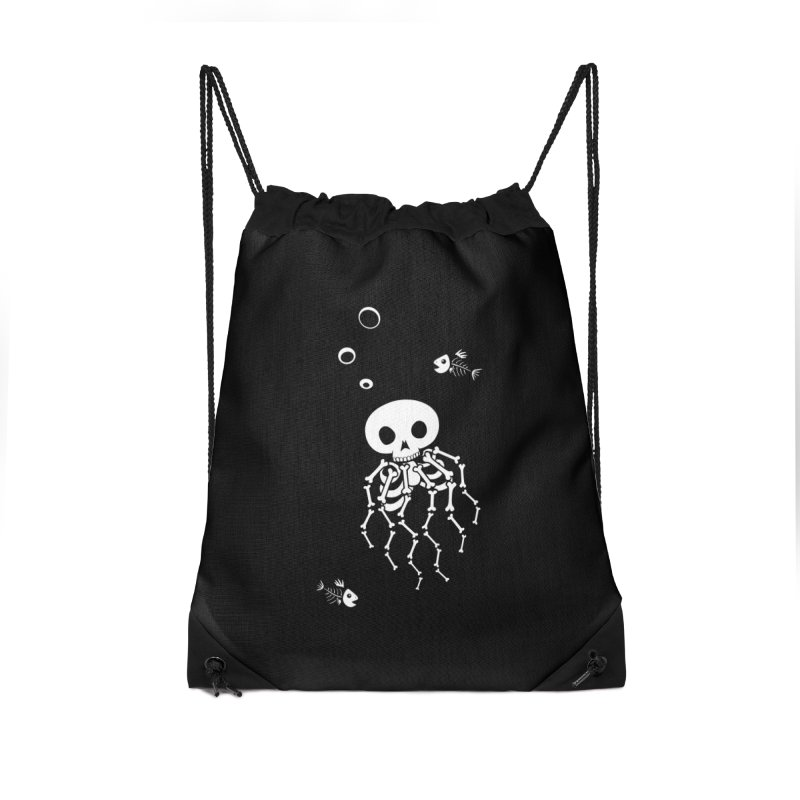 Bone Jelly Accessories Drawstring Bag Bag by Creaturista's Fine Goods