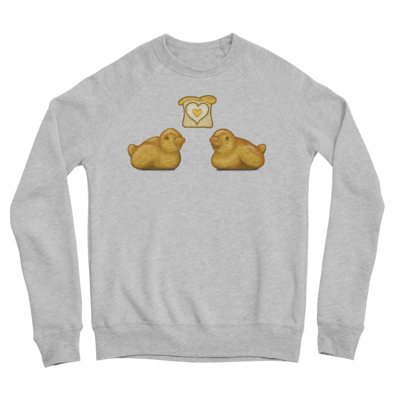 Love Breads Men's Sponge Fleece Sweatshirt by Creaturista's Fine Goods