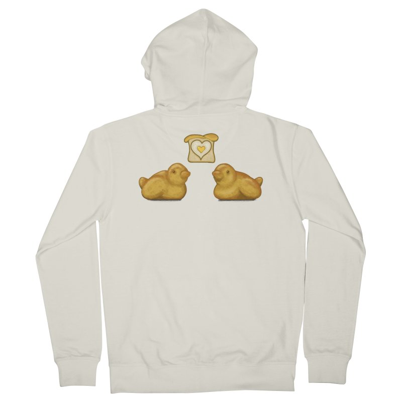 Love Breads Men's French Terry Zip-Up Hoody by Creaturista's Fine Goods