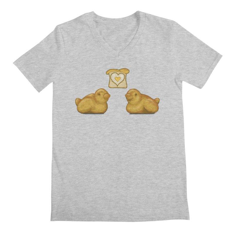 Love Breads Men's Regular V-Neck by Creaturista's Fine Goods