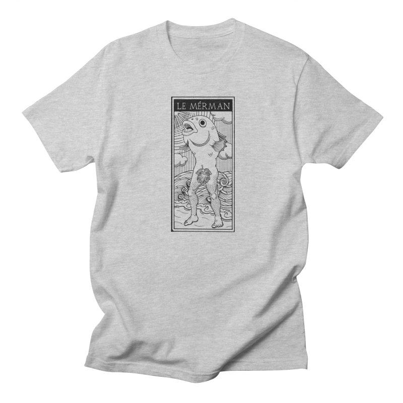 The Merman (light shirt version) Men's Regular T-Shirt by Creaturista's Fine Goods