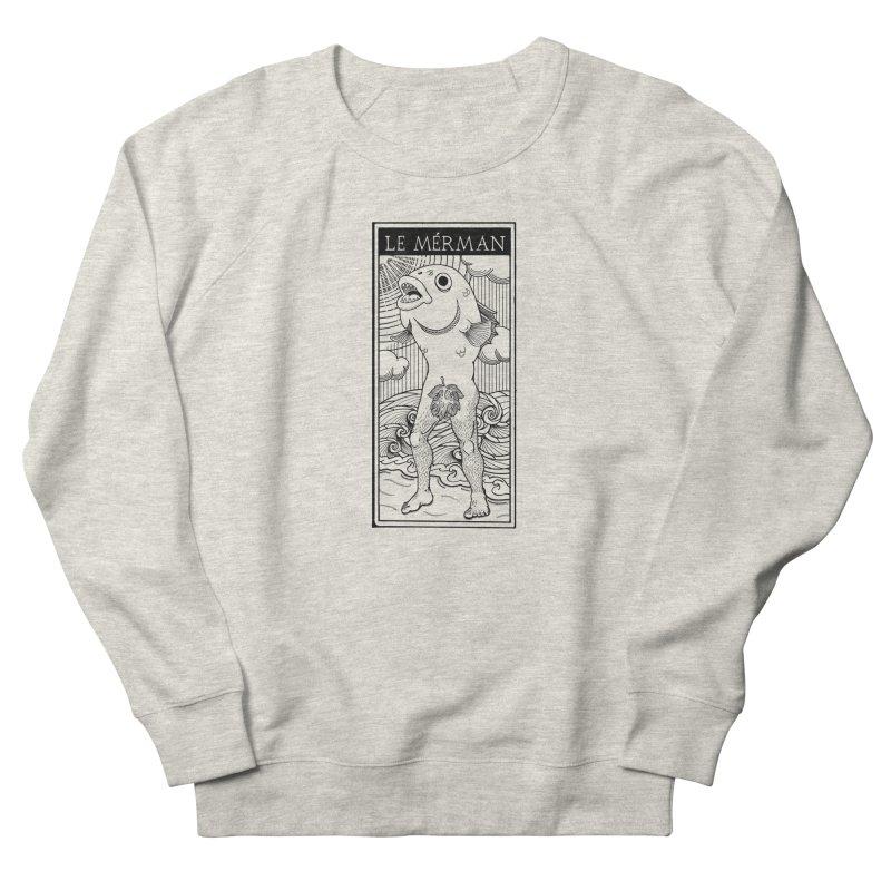 The Merman (light shirt version) Men's French Terry Sweatshirt by Creaturista's Fine Goods