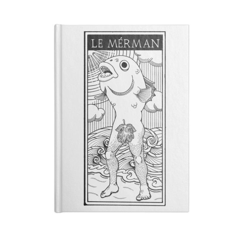 The Merman (light shirt version) Accessories Notebook by Creaturista's Fine Goods