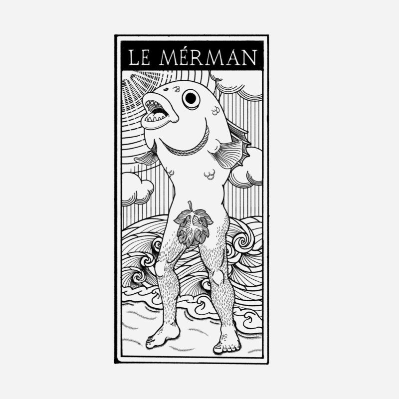 The Merman (light shirt version) Accessories Magnet by Creaturista's Fine Goods