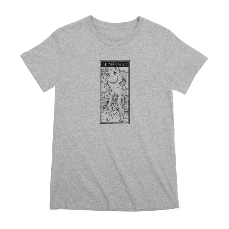 The Merman (light shirt version) Women's Premium T-Shirt by Creaturista's Fine Goods
