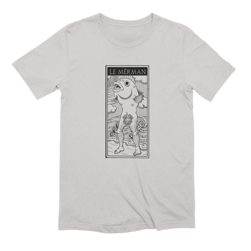 The Merman (light shirt version) Men's Extra Soft T-Shirt by Creaturista's Fine Goods
