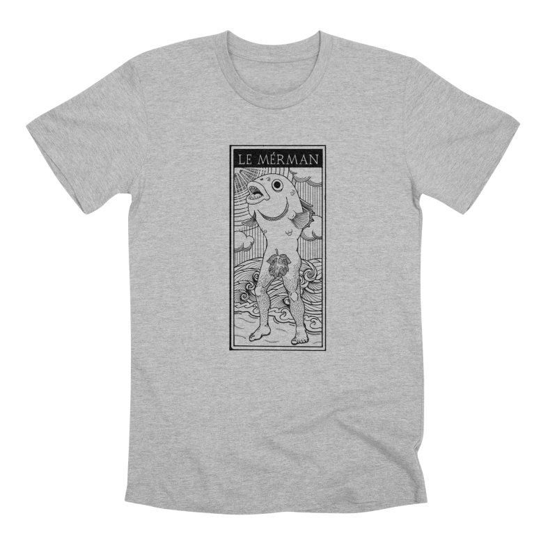The Merman (light shirt version) Men's Premium T-Shirt by Creaturista's Fine Goods