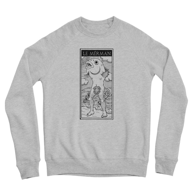 The Merman (light shirt version) Men's Sponge Fleece Sweatshirt by Creaturista's Fine Goods