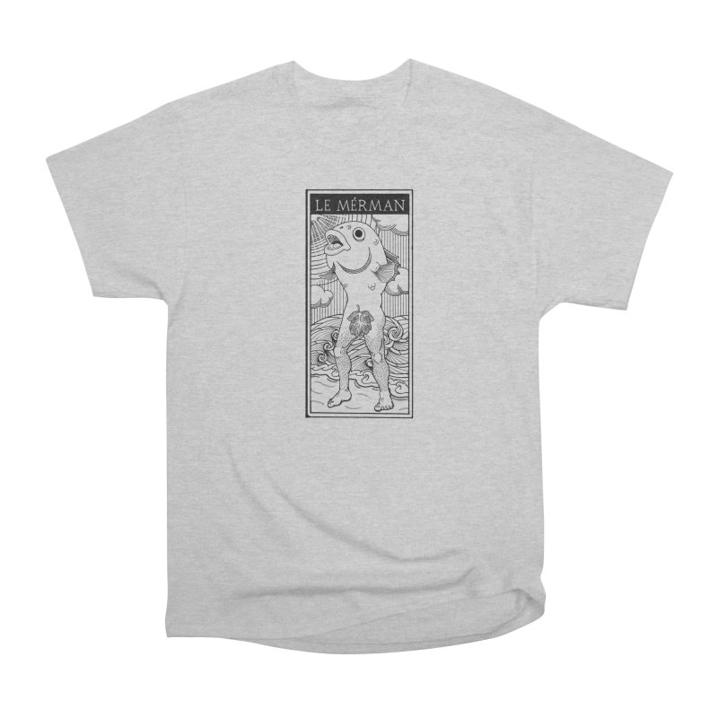 The Merman (light shirt version) Men's Heavyweight T-Shirt by Creaturista's Fine Goods