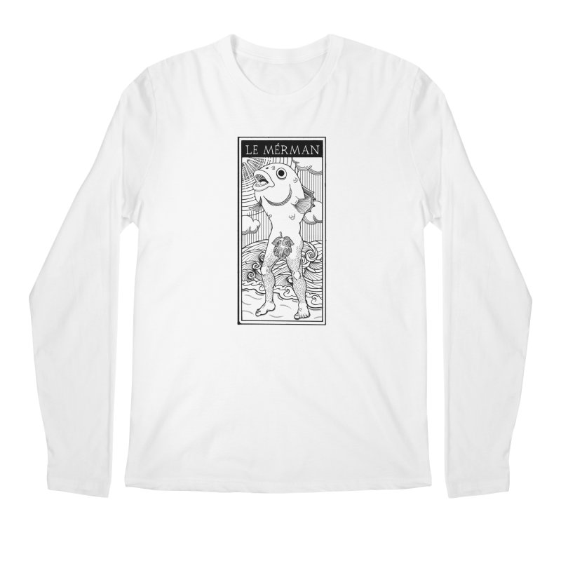 The Merman (light shirt version) Men's Regular Longsleeve T-Shirt by Creaturista's Fine Goods