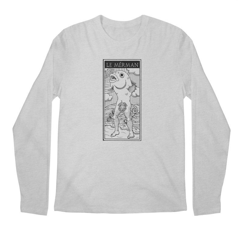 The Merman (light shirt version) Men's Regular Longsleeve T-Shirt by Creaturista's Fine Goods