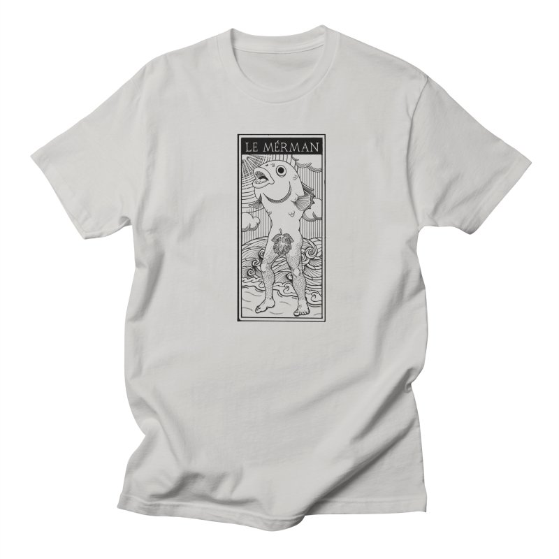 The Merman (light shirt version) Men's T-Shirt by Creaturista's Fine Goods