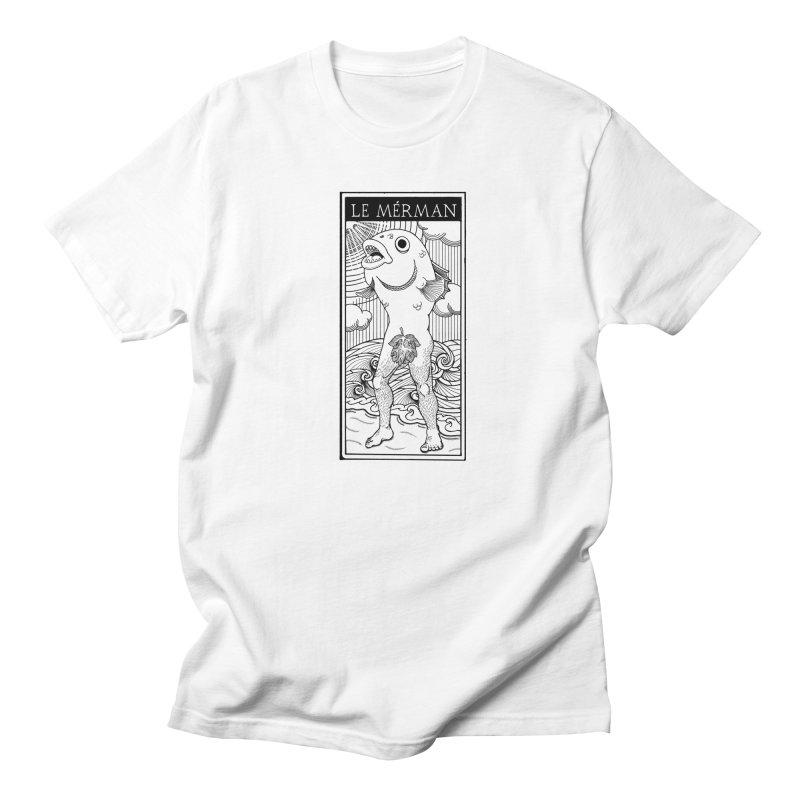 The Merman (light shirt version) Men's T-Shirt by Creaturista's Fine Goods