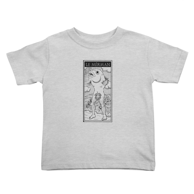 The Merman (light shirt version) Kids Toddler T-Shirt by Creaturista's Fine Goods