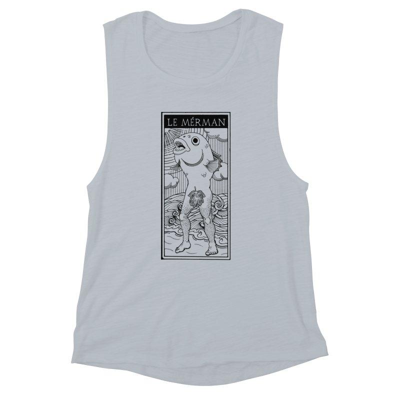 The Merman (light shirt version) Women's Muscle Tank by Creaturista's Fine Goods