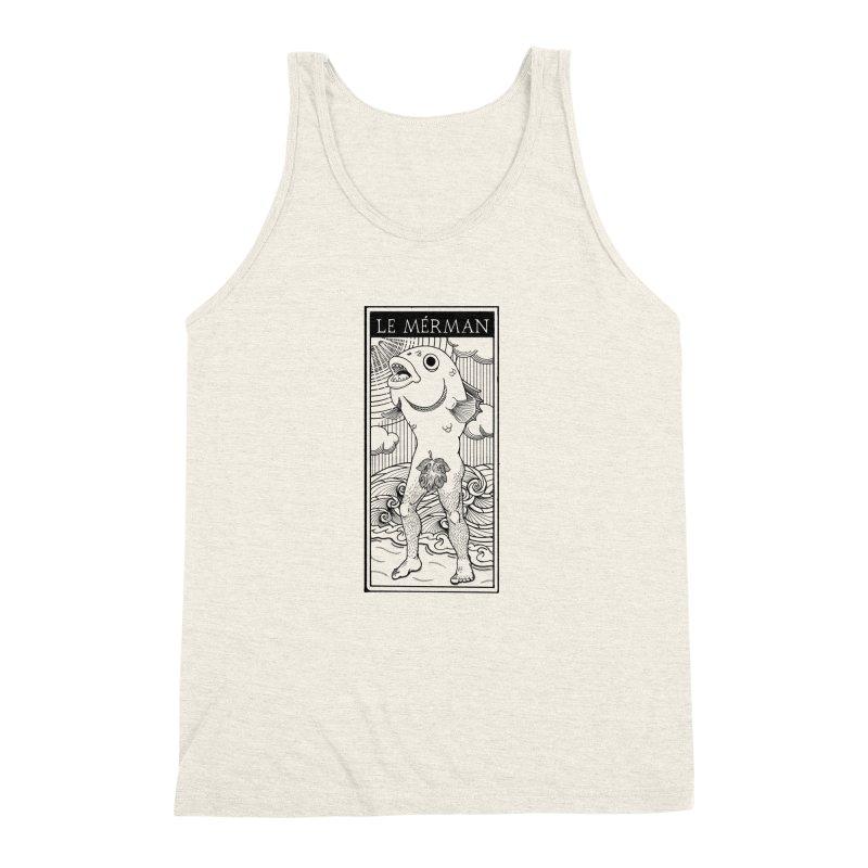 The Merman (light shirt version) Men's Triblend Tank by Creaturista's Fine Goods