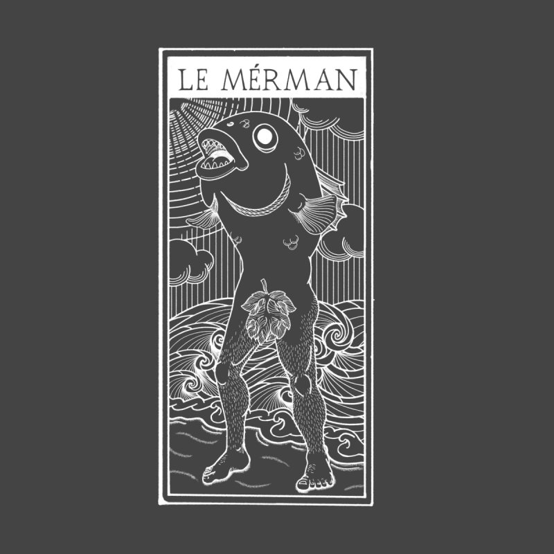 The Merman (dark shirt version) Women's Longsleeve T-Shirt by Creaturista's Fine Goods