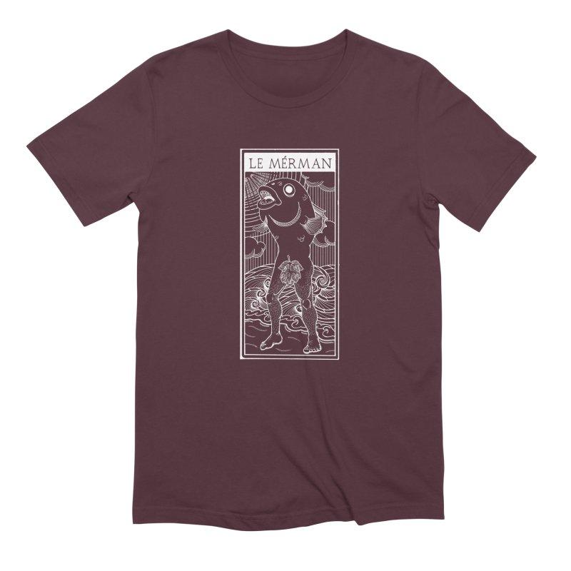 The Merman (dark shirt version) Men's T-Shirt by Creaturista's Fine Goods