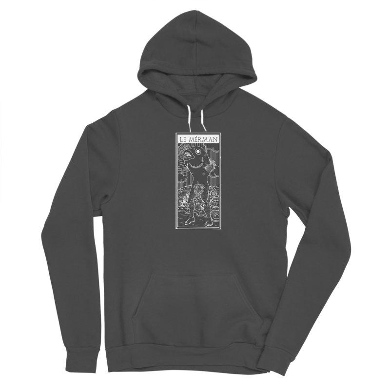 The Merman (dark shirt version) Women's Pullover Hoody by Creaturista's Fine Goods
