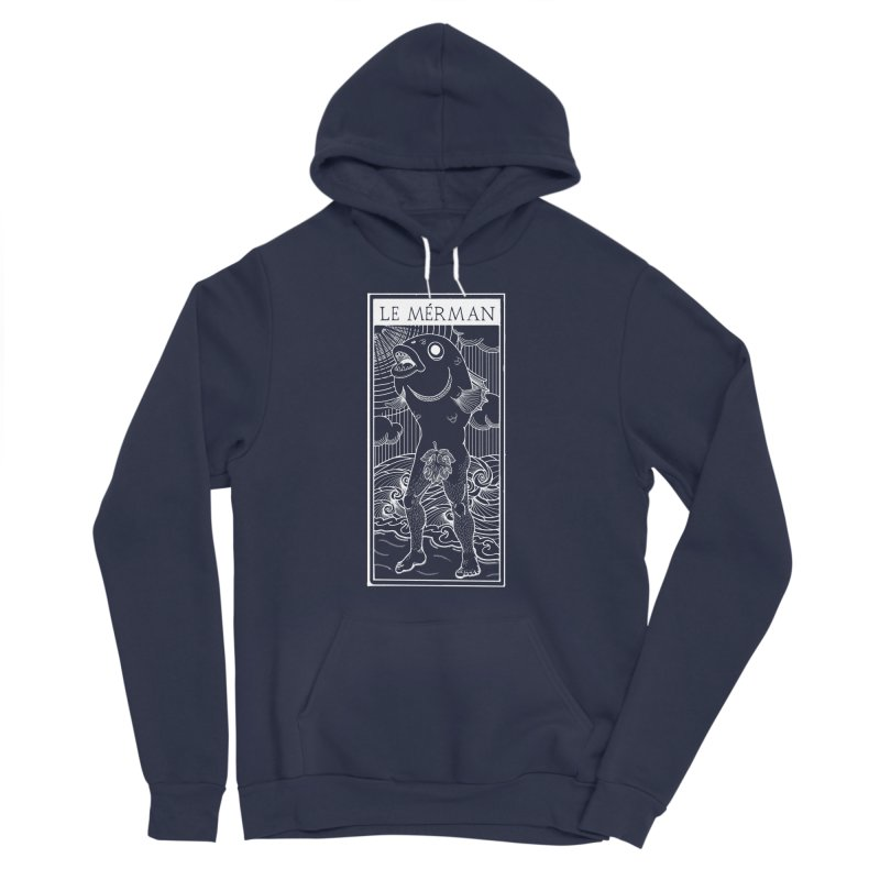 The Merman (dark shirt version) Women's Sponge Fleece Pullover Hoody by Creaturista's Fine Goods