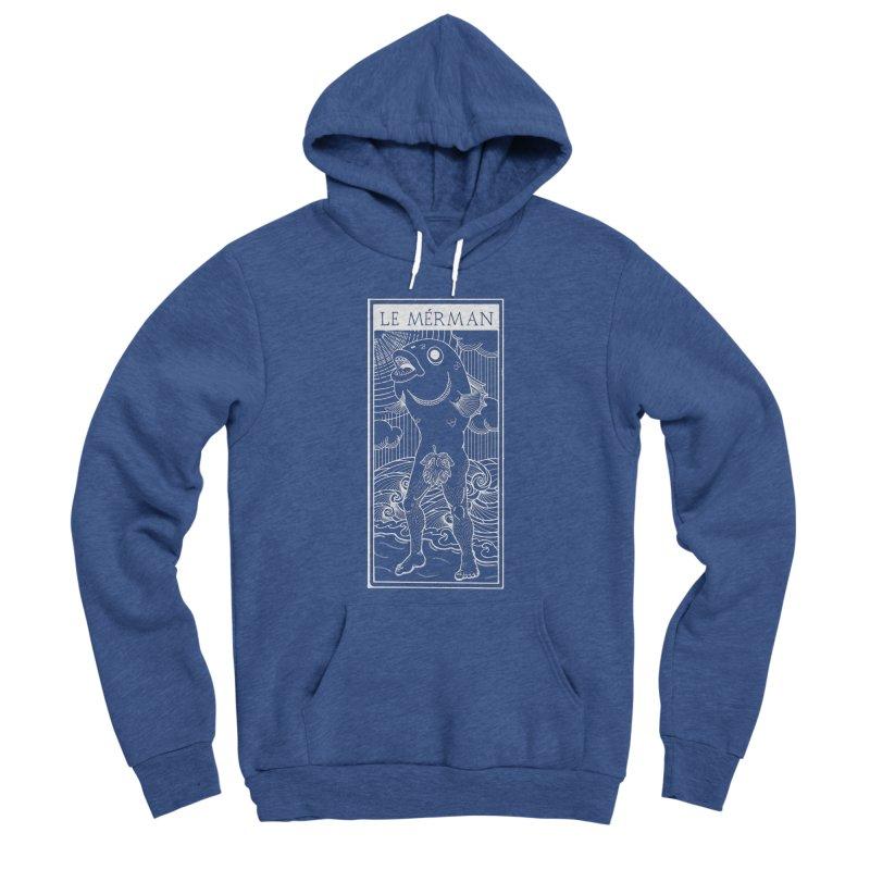 The Merman (dark shirt version) Men's Sponge Fleece Pullover Hoody by Creaturista's Fine Goods