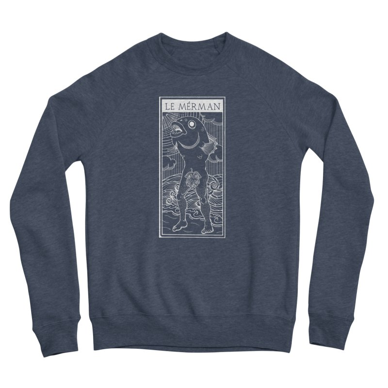 The Merman (dark shirt version) Women's Sponge Fleece Sweatshirt by Creaturista's Fine Goods