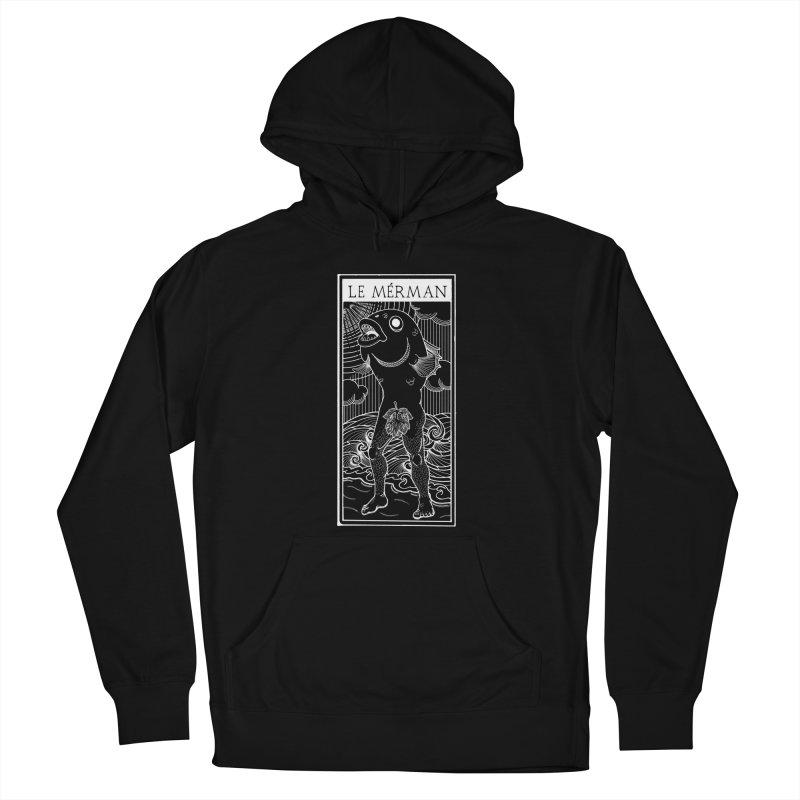 The Merman (dark shirt version) Men's French Terry Pullover Hoody by Creaturista's Fine Goods