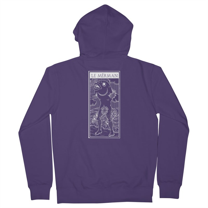 The Merman (dark shirt version) Women's Zip-Up Hoody by Creaturista's Fine Goods