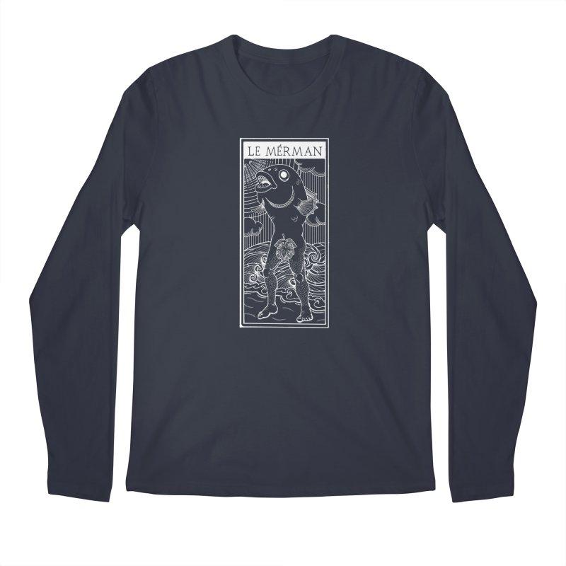 The Merman (dark shirt version) Men's Regular Longsleeve T-Shirt by Creaturista's Fine Goods